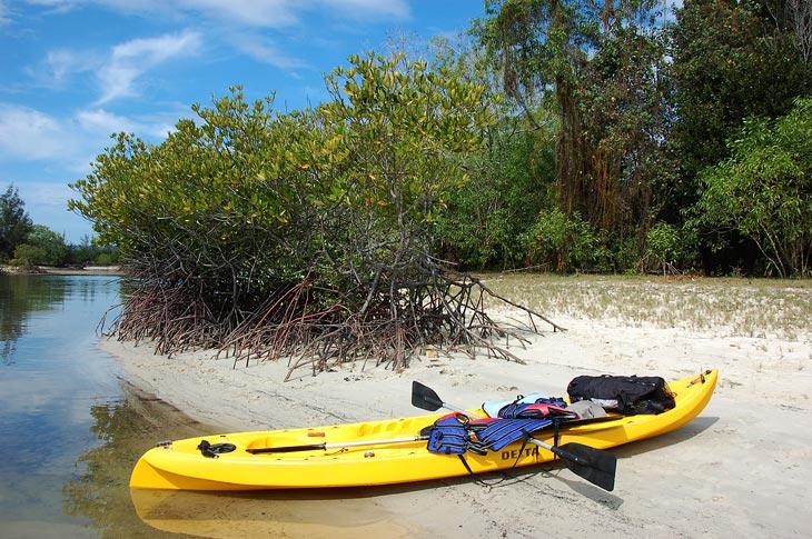 Арендовав каяк прошвырнулись по дивным и необитаемым островкам в лагуне.
