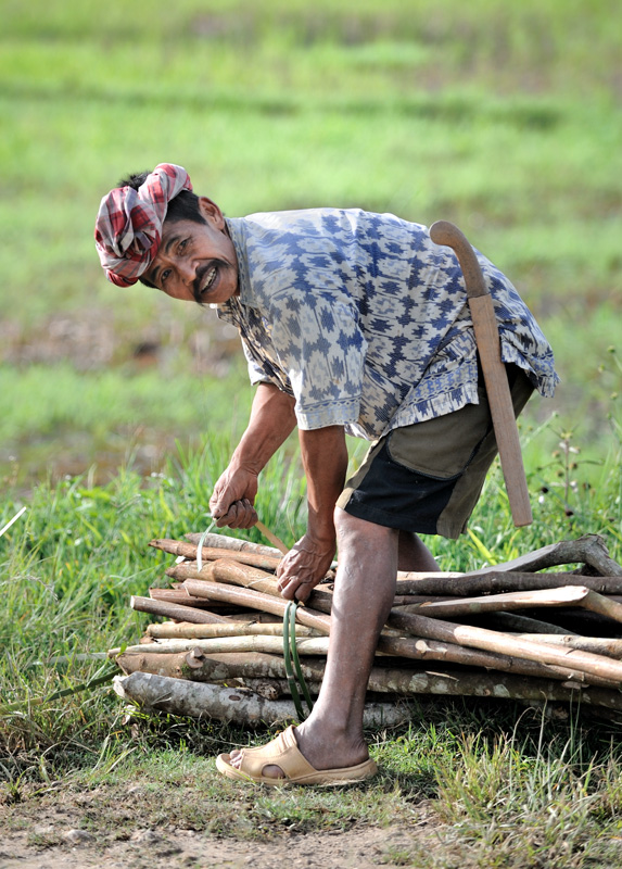 Наиболее типичный представитель тораджей — это жизнерадостный крестьянин с полуметровой саблей.