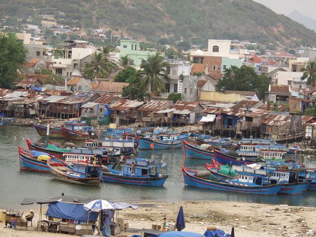Рыболовный флот. Вид на рыбацкие кварталы.