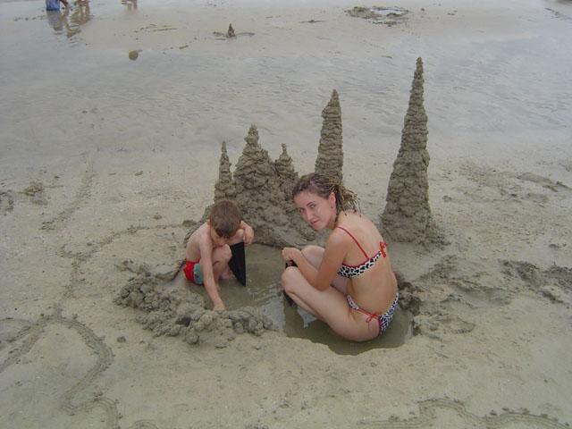 В песочнице.