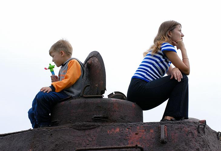 Мое семейство на танке.