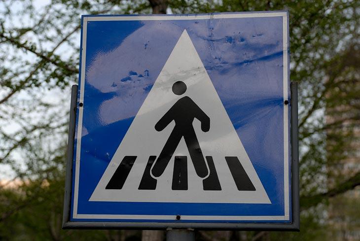 Этот мутант в центре города информирует водителей о возможном появлении на дороге иностранцев. Негнущиеся ноги и череп микроцефала призывают снисходительнее относиться к гостям столицы.