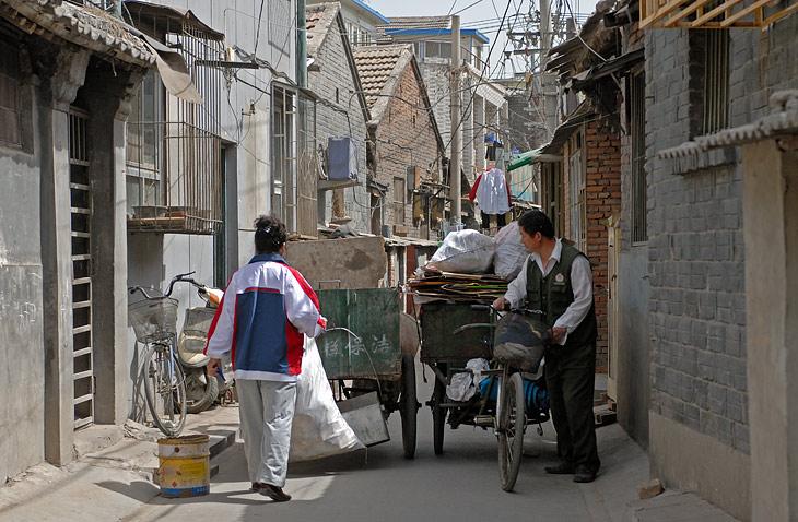Грузовые велосипеды на тесных городских улицах.