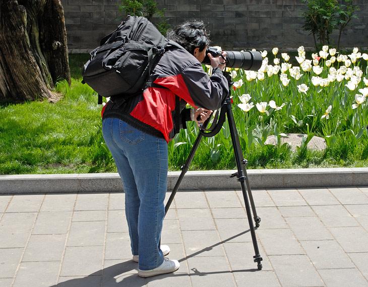 Увидев толпу фотографов с серьезной оптикой, Татьяна сказала: