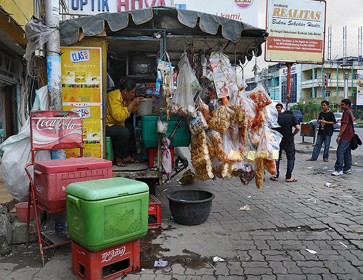Мимо проносился традиционный азиатский городской срач. Колоритные охапки каких-то гигантских чипсов, палатки с жутко пахнущей едой, плоские трупики крыс на обочинах, да прочая, столь любимая нами, атмосфера тропического города.