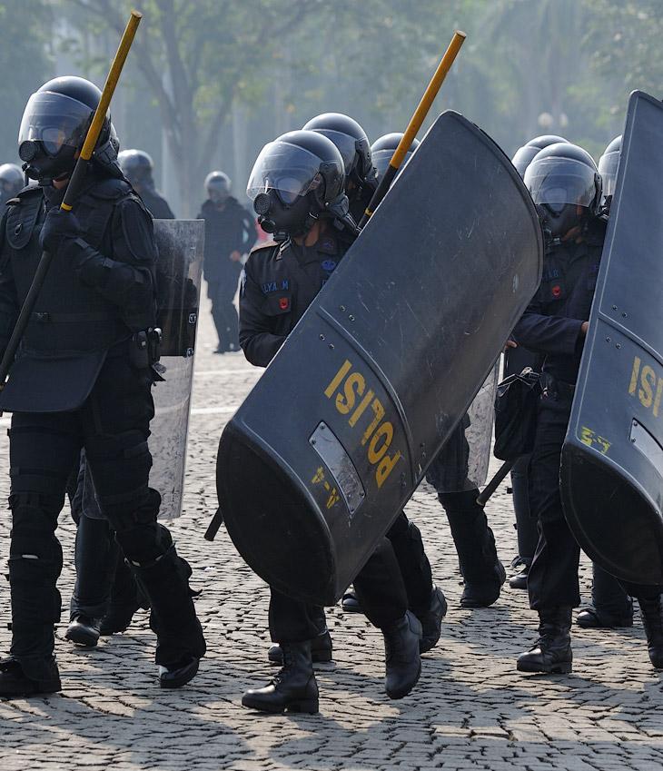 Словно солдаты из Звездных войн, резвятся такие вот специальные чебурашки с демократизаторами в руках.