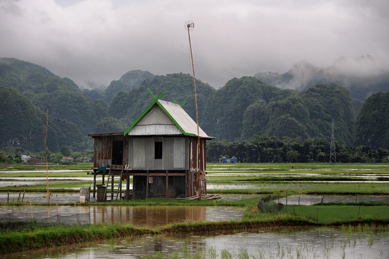 Макассар — столица Южного Сулавеси, запомнился исключительно своей затопленностью. Город расположен в болотистом устье рек, средь             квадратов рисовых полей и уходящих к горизонту водных равнин. Реки явно переполнены, бурная, несущая выкорчеванные пальмы и островки             смытой растительности, мутная вода цепляет нижние пролеты мостов. Местами перемыты бетонные набережные и скособочились в сторону реки             затопленные большие дома.