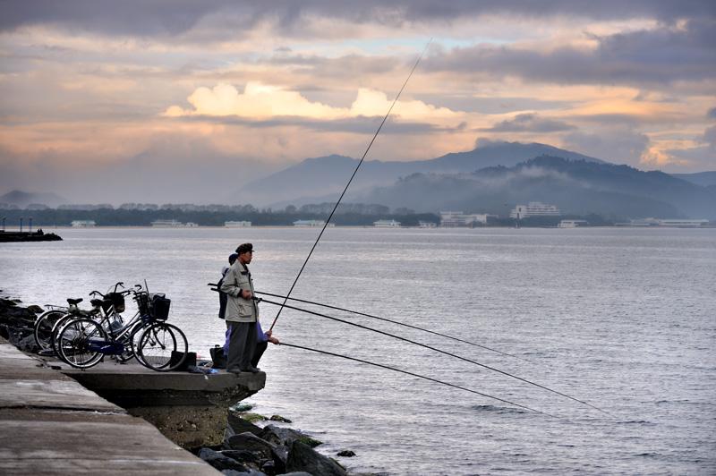 Рыбаки в Вонсане.