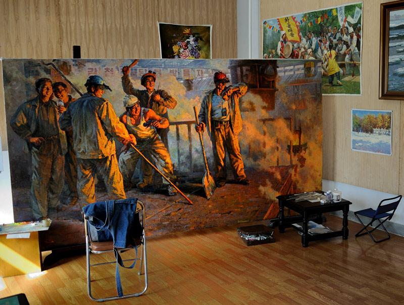 В мастерской художника.