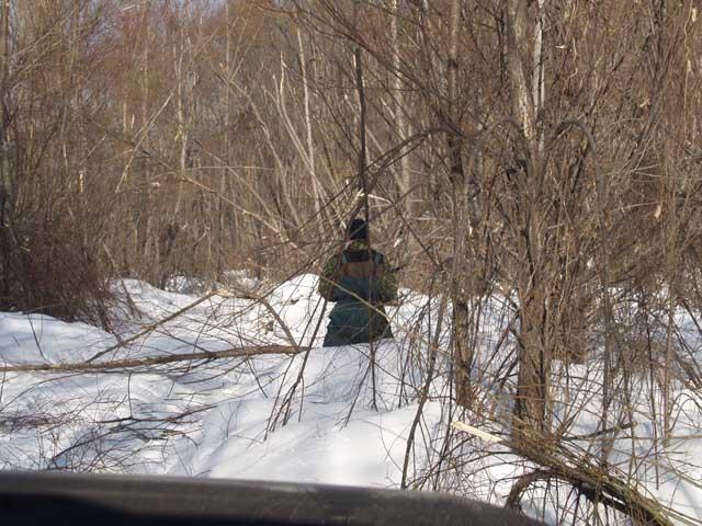 Фигня снег, ниже пояса. Вот только деревьев пришлось вырубить массу. Это действительно серьезное препятствие.