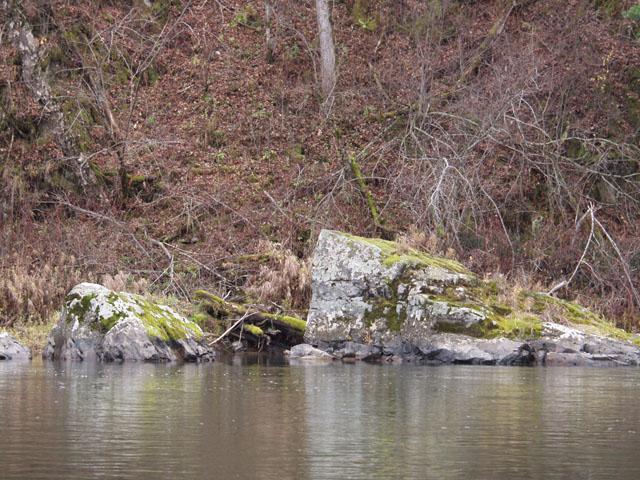 Под каменьями наверное пасется таймень. Но я этого так и не узнал. Нет бы блесну туда совать, а я просто фотографировал.