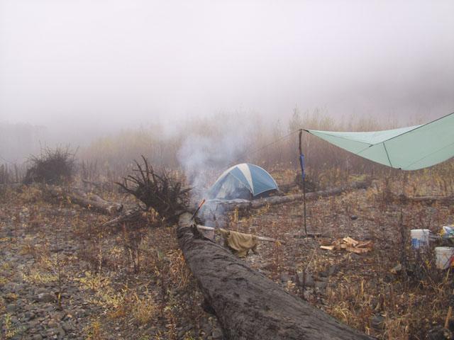 Утро встретило нас жизнерадостным зрелищем густого тумана. Вообще пейзажи отличались редкостной веселостью, яркими красками и сочным оптимизмом.