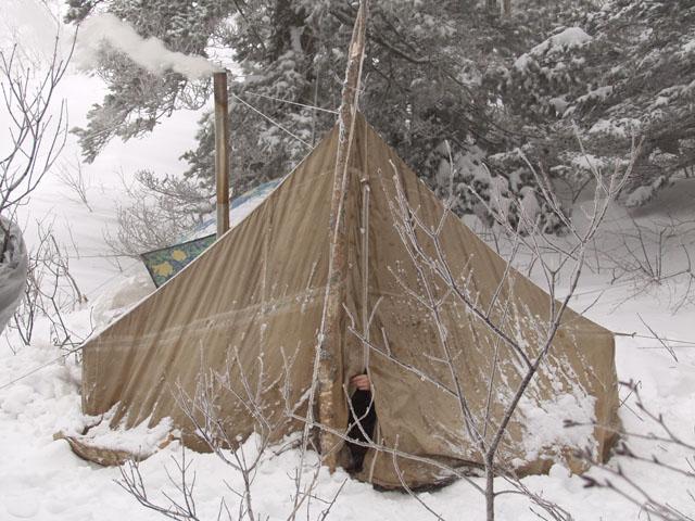 Чудо-чудное, диво-дивное. Палатка с печкой.