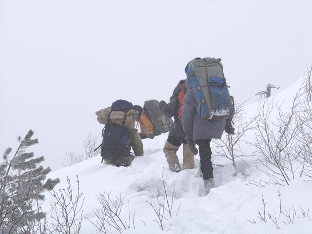 Подмокшая часть экспедиции повернула в обратный путь.