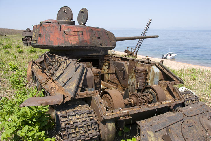 Состояние танков нами было признано вполне удовлетворительным. Ржавеют себе и ржавеют... В целом относительная удаленность данного острова от цивилизации, привела к весьма малой загаженности берегов. Танки можно считать музейными               артефактами.