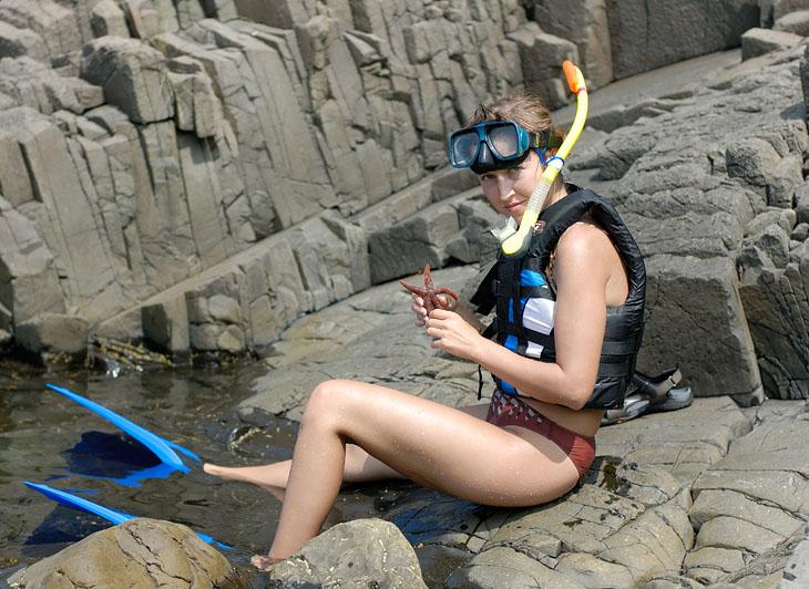 Большую часть времени просидели в воде, пытаясь охладить перегретые организмы.